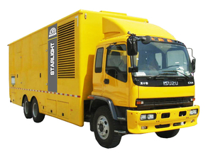 Mobile car diesel generator set